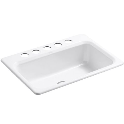 Kohler Bakersfield Cast Iron Undermount Kitchen Sink - 5832-5U